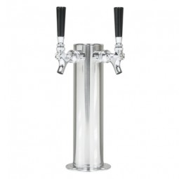 "3"" Cylinder tower 2 faucets SS air cooled"