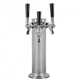 "3"" Column tower SS 3 chrome faucets"