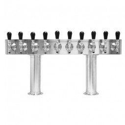 Pass thru tower stainless finish 10 faucets