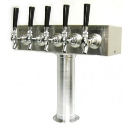 T box tower 5 faucets SS glycol