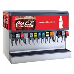 "Ice-Bev Dispenser 44"" 12 LEV self-serve lever valves cube ice"