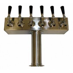T box tower heavy duty SS finish 6 faucets glycol