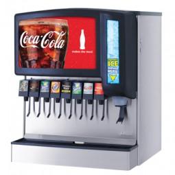 """Ice Bev Dispenser 30"""" Sensation 8 LEV self serve lever valves chewable ice"""