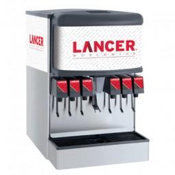 "Ice Bev Dispenser, 22"", 6 LEV Lever Valves, Cubelet Ice"