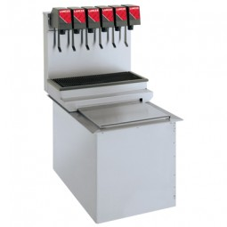 Drop-in 15x23, standard performance SS tower, 6 LEV self-serve lever valves Coke graphics