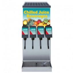 CED 504 dispenser, ambient BIB juice, 4 Flomatic SS lever valves