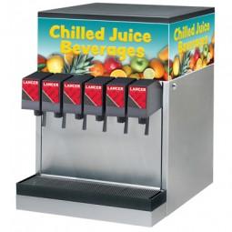 CED 1500E dispenser, ambient BIB juice, 6 Flomatic sani-lever valves