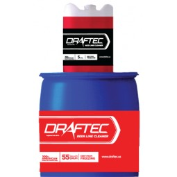 Draftec beer line cleaner, red tracer, 55 gallon