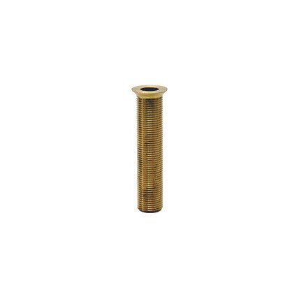 """4"""" Brass drain with lock nut and washer"""