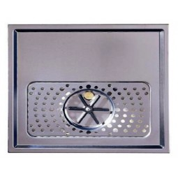 "Euro rinser drip tray 2 tower holes 15.75"" x 1-3/16"" x 15.75"""