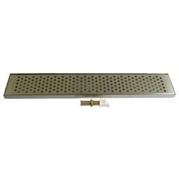 "Countertop drip tray 62"" x 8"" x .75""H"