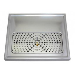 "Euro drip tray 2 tower holes 15.75"" x 1-3/16"" x 15.75"""