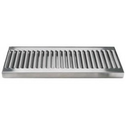 """Surface mount drip tray 18"""" x 5"""" stainless finish drain"""