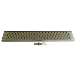 "Surface mount drip tray 24"" x 5"" stainless finish drain"