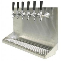 "Wall mount drip tray 48"" x 6.5"" x 14""H"