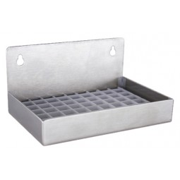 "Stainless steel wall mounted drip tray no drain 6"" x 4"" x 3""H"