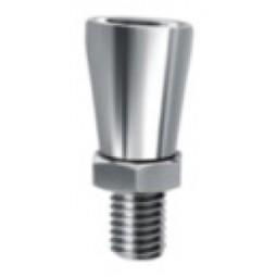 Faucet handle angler/tilter for vertical position handles, chrome plated brass