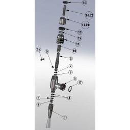 Stout faucet O-ring 17 x 25 (sliding cap)