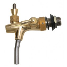 TOF Euro gold flow control beer faucet with SS nozzle Euro shank