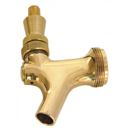 Gold plated American beer faucet with brass lever
