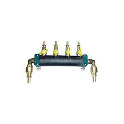 Glycol manifold assy SS 2 pump supply, 8 way