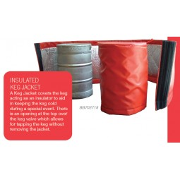 Insulated keg wrap, long enough to wrap 4-58L kegs