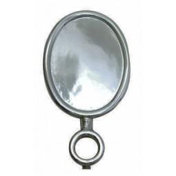 Black nickel oval vertical short medallion holder
