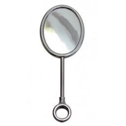 Black nickel oval vertical tall medallion holder