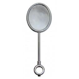 Black nickel oval vertical extra tall medallion holder
