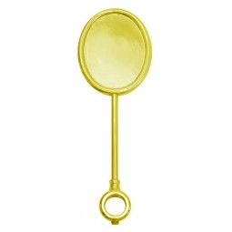 Gold oval vertical extra tall medallion holder