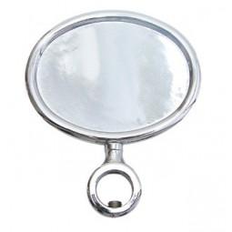 Chrome oval horizontal short medallion holder