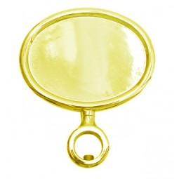 Gold oval horizontal short medallion holder