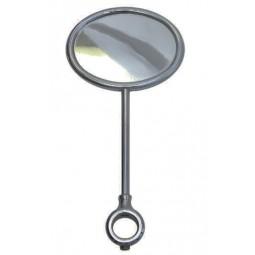 Black nickel oval horizontal extra tall medallion holder