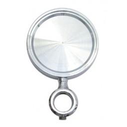 Chrome round short medallion holder