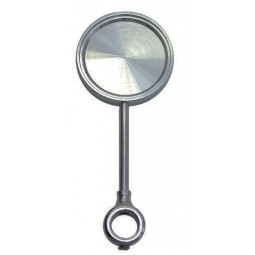 Black nickel round tall medallion holder