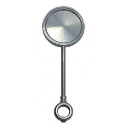Black nickel round extra tall medallion holder