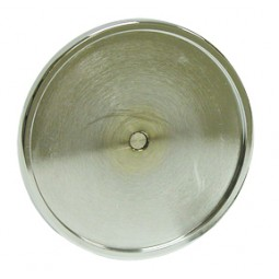Chrome round medallion holder with screw for face mount applications