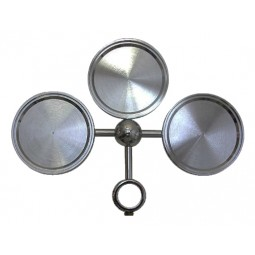 Black nickel 3 way round medallion holder assembly