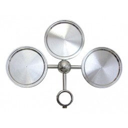 Chrome nickel 3 way round medallion holder assembly