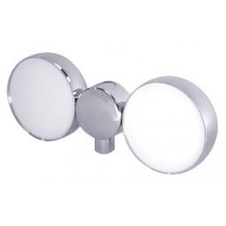 Double chrome plug & play LED medallion holder