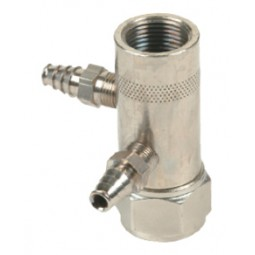 Vertical swivel connector to connect picnic pump to coupler