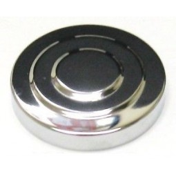 "3"" cap with insulation and O-ring, polished chrome"