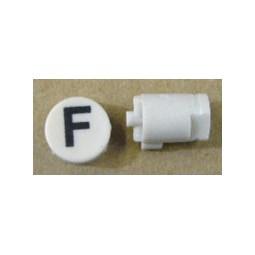 Button cap F black lettering white cap