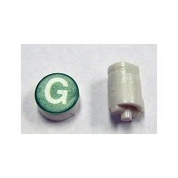 Button cap G white lettering green cap