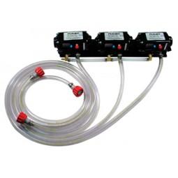 "Flojet 4 pump system CC adapters 3/8"" SS barb straight"