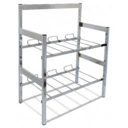 "Flat 3-wide vertical x 2 shelves 28"" wide x 28.5"" high with riser (44239)"