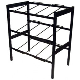 "Flat 3-wide vertical x 2 shelves 28"" wide x 30.75"" high with riser (44241)"