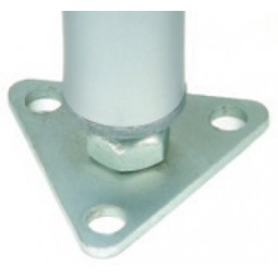 Nexel wire rack foot plate, triangle shape