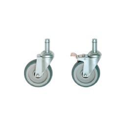 Nexel caster set - 2 w/lock