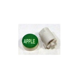 Button cap APPLE white lettering green cap